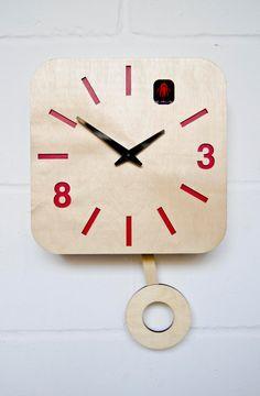B83Box Modern Cuckoo Clock with moving pendulum by pedromealha