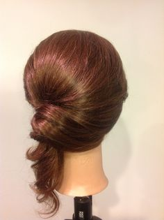 Twisted low ponytail back