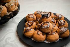 Donut dessert table setting for wedding suprise