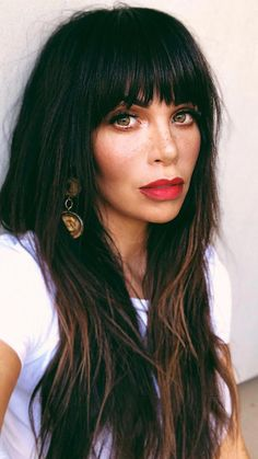 105 most amazing balayage long hairstyles for women 2019 35 - My list of women's hair styles Haircuts For Long Hair, Haircuts With Bangs, Long Hair Cuts, Cool Hairstyles, Full Fringe Hairstyles, Beautiful Hairstyles, Straight Hair, Hairstyle Ideas, Bangs With Medium Hair