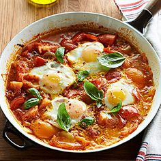 Spicy Poached Eggs in Tomato Sauce From Better Homes and Gardens, ideas and improvement projects for your home and garden plus recipes and entertaining ideas.