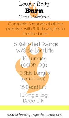 Lower Body Burn Circuit Workout - Freeing Imperfections