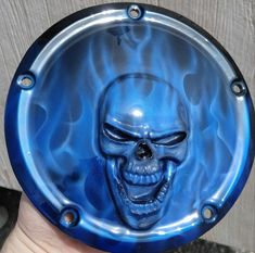 These are individually built and designed for the customer. Custom built skull on Harley-Davidson derby cover. Can do any design, color or theme. These take three to four weeks to build. We can do any model of bike and contact us if you have questions. Harley Davidson Logo, Harley Davidson Motorcycles, Custom Harley Parts, Victory Motorcycles, Custom Airbrushing, 3d Artwork, Derby, The Incredibles, Bike