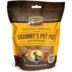 Merrick Kitchen Bites for Pets, 9-Ounce, Grammy's Pot Pie ~~~ You can check out this great product. (This is an affiliate link and I receive a commission for the sales)