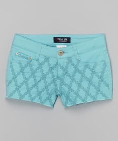 Look at this Freestyle Revolution Aqua Curls Tate Shorts - Girls on #zulily today!