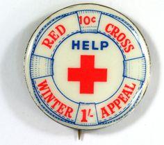 International Red Cross, Life Preserver, Riverside California, American Red Cross, Pinback Buttons, Tobias, Wwi, Badges, Winter