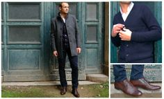 Manteau New mosto  Gilet en laine SELECTED Chaussures SELECTED Sel Latin