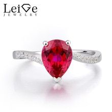 Leige Jewelry Ruby Ring Anniversary Ring July Birthstone Pear Cut Red Gemstone 925 Sterling Silver Ring Water Drop Shape Stone //Price: $US $105.00 & FREE Shipping //     #Fine jewelry July Birthstone, Birthstone Jewelry, Jewelry Box, Fine Jewelry, Red Gemstones, Affordable Jewelry, Anniversary Rings, Birthstones, Pear