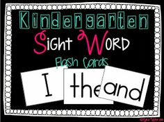 FREEBIE sight word cards!