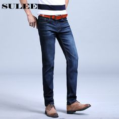 Good price 2017 SULEE Men Denim Jeans Straight Slim Male Jeans Pants Fashion Classical Casual Business Style Men Blue Ripped Jeans just only $22.94 with free shipping worldwide  #jeansformen Plese click on picture to see our special price for you