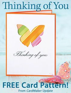 Thinking of You Download from CardMaker newsletter. Click on the photo to access the free pattern. Sign up for this free newsletter here: AnniesNewsletters.com.