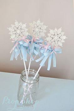 Varita de copo de nieve de invierno