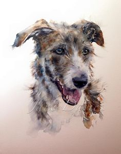 Commission piece by watercolour artist Jane Davies of a Hancock Lurchers