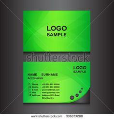 green Business card design template vector illustration