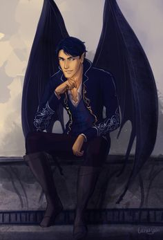 Rhys by taratjah. Aedan, though his wings are feathered