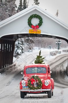 Dashing through the snow in my vintage Christmas truck. Christmas Red Truck, Christmas Scenes, Noel Christmas, Country Christmas, Christmas Pictures, Winter Christmas, Vintage Christmas, Christmas Wreaths, Christmas Decorations