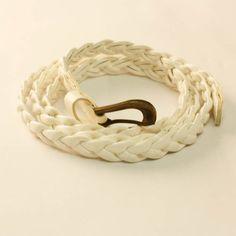 White Skinny Belt Skinny Belt, Leather