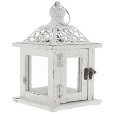 Small White Lantern with Punch Top