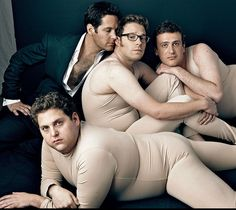Paul Rudd, Seth Rogan, Jason Segal, Jonah Hill. I don't know why  but this photo just makes me laugh out loud!
