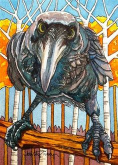 "You Lookin' At ME??? lol!!!! ""FALL RAVEN"" by Kristy Tracy"