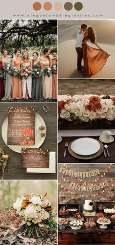 orange red, warm brown,cream and warm taupe fall wedding color ideas october wedding colors schemes / fall wedding ideas colors october / fall wedding ideas november / fall winter wedding / fall colors for wedding Trendy Wedding, Perfect Wedding, Dream Wedding, Wedding Day, Taupe Wedding, Fall Wedding Bridesmaids, Elegant Wedding, Wedding Attire, Wedding Season
