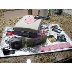 Shoebox memories cake