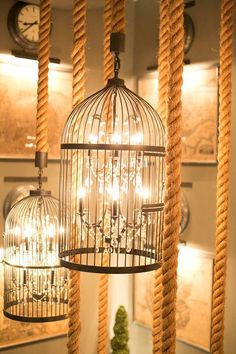 Gorgeous birdcage chandeliers  #engage13  Photo by Scott Clark Photo