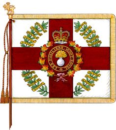 Regimental Colours of the Royal Fusiliers. Canadian Army, British Army, Afghanistan War, Defence Force, Remembrance Day, Napoleonic Wars, British History, Coat Of Arms, World War Ii