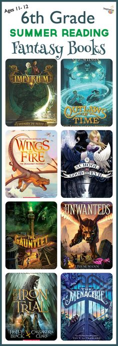 6th grade summer reading list -- fantasy books and more