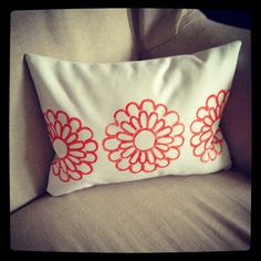 how to make a stamped pillow cover (a video tutorial) - The Shabby Creek Cottage
