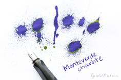 Looking to add a pop of purple to your fountain pen ink collection? Check out Monteverde Charoite, a gem of an ink with electric green sheen!
