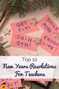 What will you do to make 2019 a better year or the year of a better you? Here are 10 New Years resolutions for teachers to get you started. Classroom Management Strategies, Teaching Strategies, Teaching Tips, Classroom Resources, Teaching 5th Grade, 3rd Grade Classroom, Fun Secret Santa Ideas, Reflective Teaching, Teaching Posts