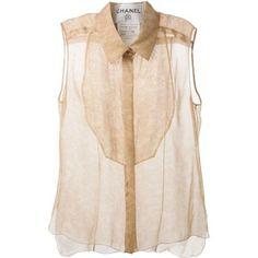 Chanel Vintage Floral Lace Print Shirt
