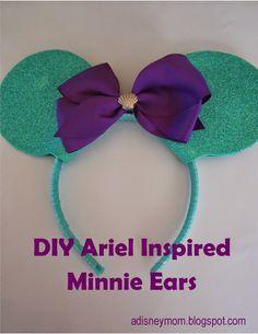 A Disney Mom: DIY Ariel Inspired Ears; Little Mermaid Minnie ears