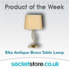 PRODUCT OF THE WEEK! Elka Antique brass table lamp.   Buy online here: https://socketstore.co.uk/products/lighting/table-lamps/antique-brass/elka-antique-brass-table-lamp  #lighting #lamps #antique #table