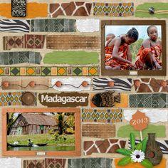 Profitez de notre kit Trésors d'Afrique pour égayer vos plus belles images ! #scrapbooking #montage #photos