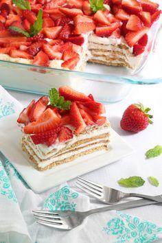 Strawberry Icebox Cheesecake Dessert   Sprinkle Bakes
