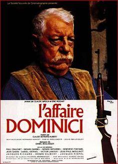 L AFFAIRE DOMINICI Beau Film, Film Mythique, Claude Bernard, Jean Gabin, Delon, Cult Movies, French Films, Clint Eastwood, Good Movies