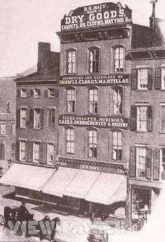The first Macy's store in Manhattan, circa 1893. 204-206 14th Street, near 6th Avenue.