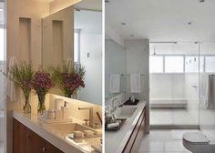 Decor flores banheiro