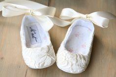 Encaje marfil zapatos zapatos de bebé de por MartBabyAccessories