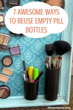 If you want to be more resourceful with your pill bottles, try reusing them for something else. Here are a few ideas to get you thinking of ways to put those empty pill bottles to good use.