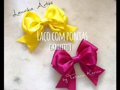 Gabarito 1: Laço com pontas (Hair bow) D.I.Y/ Tutorial by Tatiana Karina - YouTube