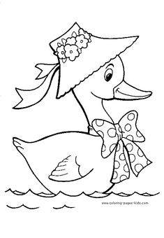 Duck color page, animal coloring pages, color plate, coloring sheet,printable coloring picture is part of Duck drawing - Baby Embroidery, Embroidery Patterns Free, Hand Embroidery Designs, Bird Drawings, Cartoon Drawings, Animal Coloring Pages, Coloring Books, Colouring, Duck Drawing
