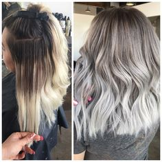 CORRECTION: Banded Mess To Silver Melt - Hair Color - Modern Salon