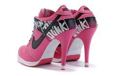 black, cute, high shoes , nike, pink