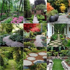 Ultimate collection of 25 most DIY friendly & beautiful garden path ideas and very helpful resources from a professional landscape designer! - A Piece of Rainbow Backyard Walkway, Diy Garden, Garden Paths, Outdoor, Shade Garden, Landscape Design, Urban Garden, Garden Beds, Beautiful Gardens