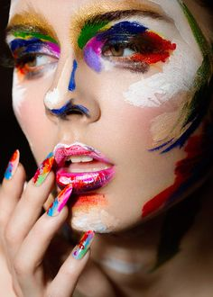 Make up is an art more glossybox, face photography, paint photography, make Sfx Makeup, Costume Makeup, Eyeshadow Makeup, Beauty Makeup, Body Makeup, Paint Photography, Makeup Photography, Fashion Photography, Art Visage