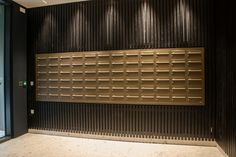 The mailboxes used in the BBC Television Centre project have been wall recessed to maximise space in the lobby area and ensure that all health and safety requirements are achieved in the project walkways.   The mailboxes are finished in two different non-standard bronze colours - each bank of boxes has a different colour (more information available on request), combined with contrasting silver engraving on each post box.