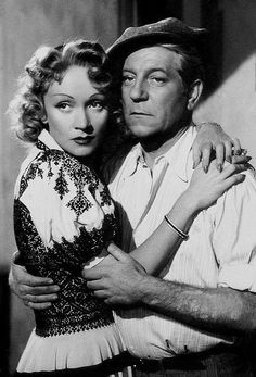 Marlene Dietrich and Jean Gabin in Martin Roumagnac directed by George Lacombe, 1946 Old Hollywood Movies, Hollywood Couples, Vintage Hollywood, Classic Hollywood, Marlene Dietrich, Rita Hayworth, Movie Duos, Divas, Jean Gabin